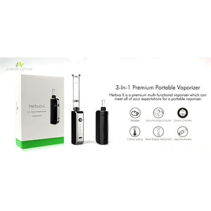 Herbva X 3-in-1 Dry Herb and Wax Vaporizer with Water Bubbler - Hemp Eagle