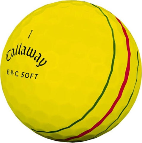 Callaway E.R.C Soft Yellow - AAA Grade Used Golf Balls
