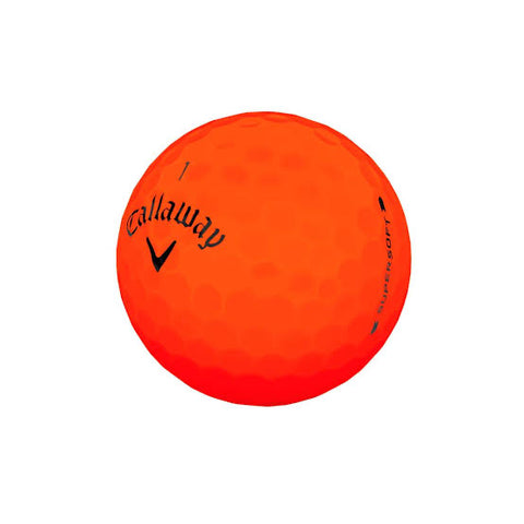 Callaway Supersoft Matte Orange - AAA Grade Used Golf Balls