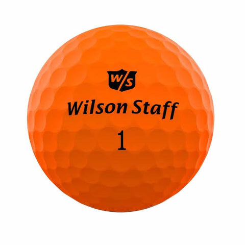 Wilson Staff Duo Soft Optix Orange - AAA Grade Used Golf Balls