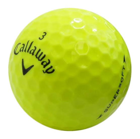 Callaway Supersoft Yellow - AAA Grade Used Golf Balls