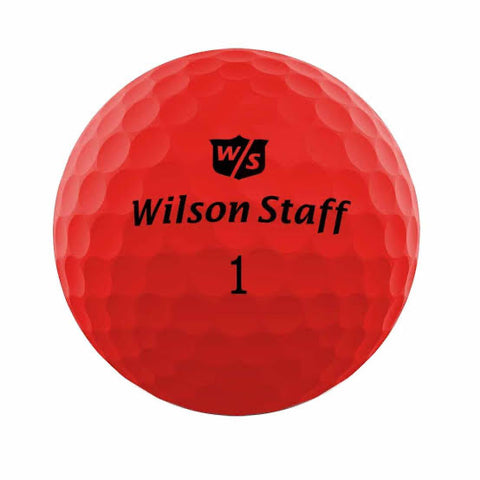 Wilson Staff Duo Soft Optix Red - AAA Grade Used Golf Balls