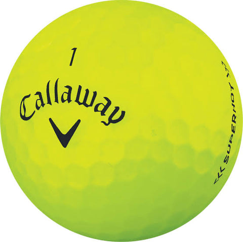 Callaway Superhot Matte Yellow - AAA Grade Used Golf Balls