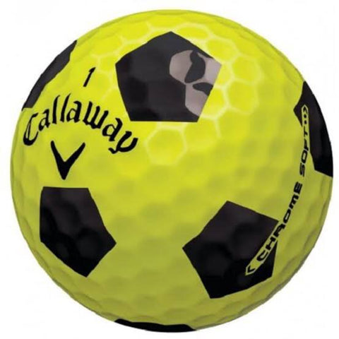 Callaway Chrome Soft Truvis Yellow/Black Pattern - AAA Grade Used Golf Balls