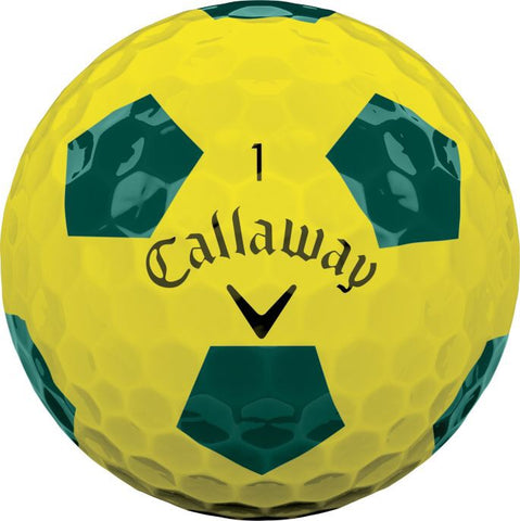 Callaway Chrome Soft Truvis Yellow/Green Pattern - AAA Grade Used Golf Balls