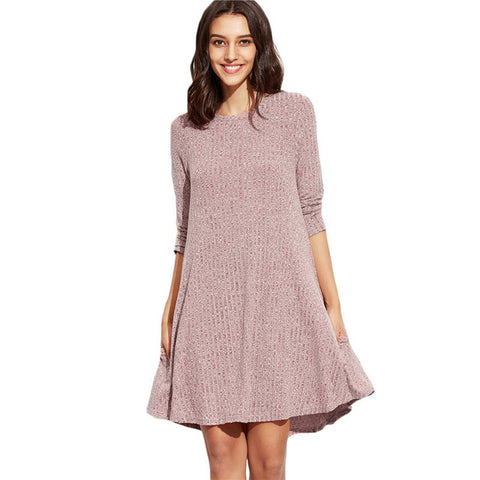 Round Necked Winter Dress - Dilly Dally Store