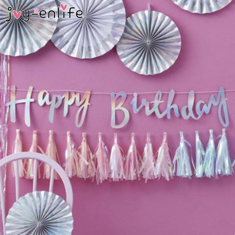 1  Sparkly Gold/Silver Happy Birthday Banner - Dilly Dally Store