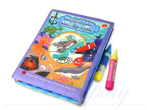Magic Water Drawing Book Marine Life theme Reusable Painting Book with 2 pens - Dilly Dally Store