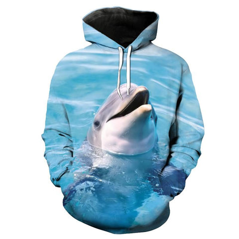 Smiling Dolphin 3D Printing Hoodies - Novel3d