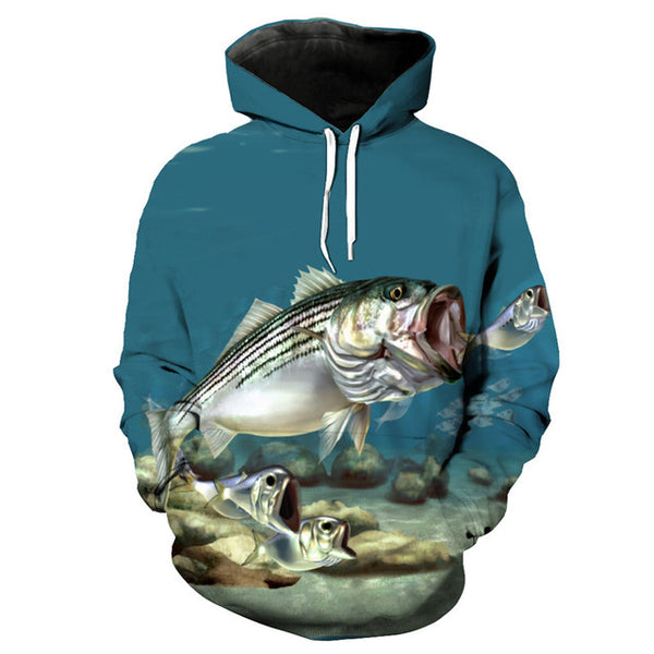 Dropshipping Fish style fashion hooded sweatshirt 16~30 - Novel3d