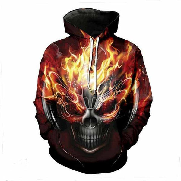 3D Skulls Pullover Hoodies - Novel3d