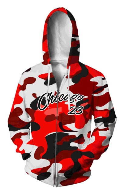 3d Print  Camouflage Zipper Outwear  Hoodies - Novel3d