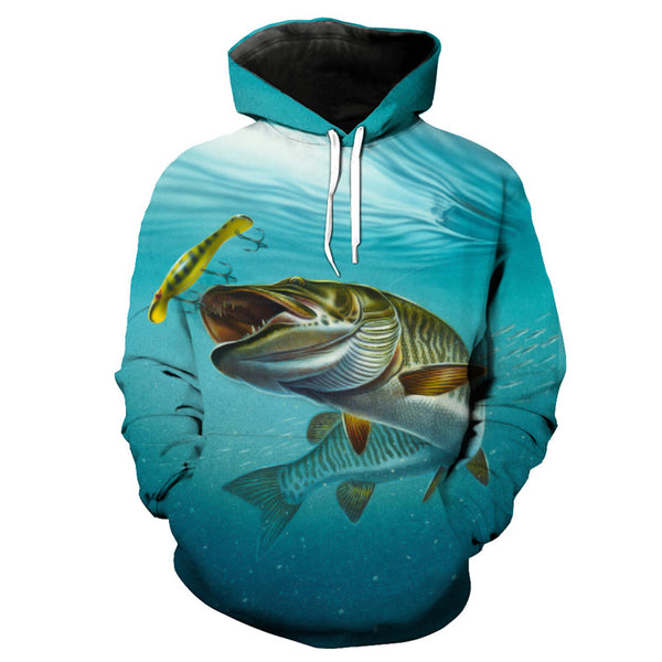Blue Tracksuits Chasing Bait Fish - Novel3d