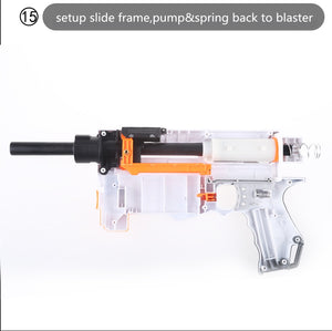 20180801 -- HOW TO MODIFY A NERF N-STRIKE ELITE RETALIATOR To Fire Short Darts --LESSON 6