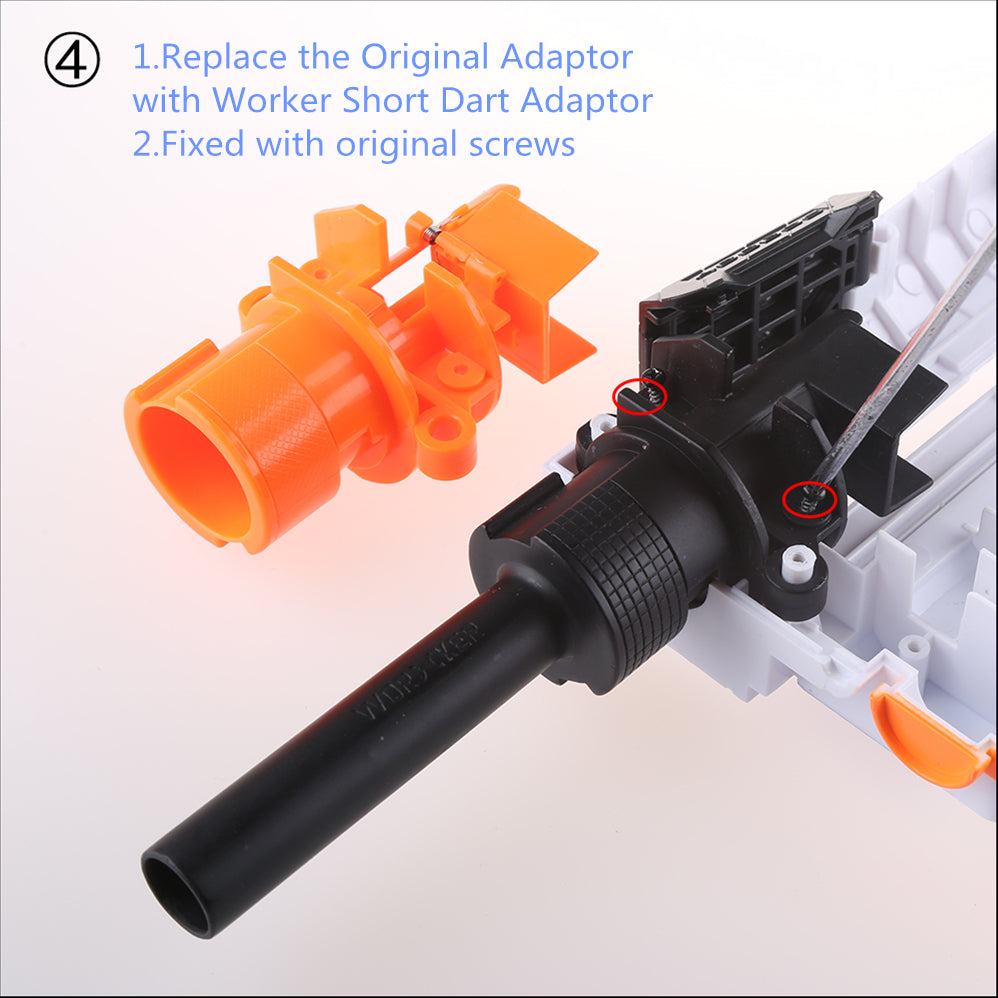 A NERF N-STRIKE ELITE RETALIATOR Short Darts Stefan Final Stage Kit