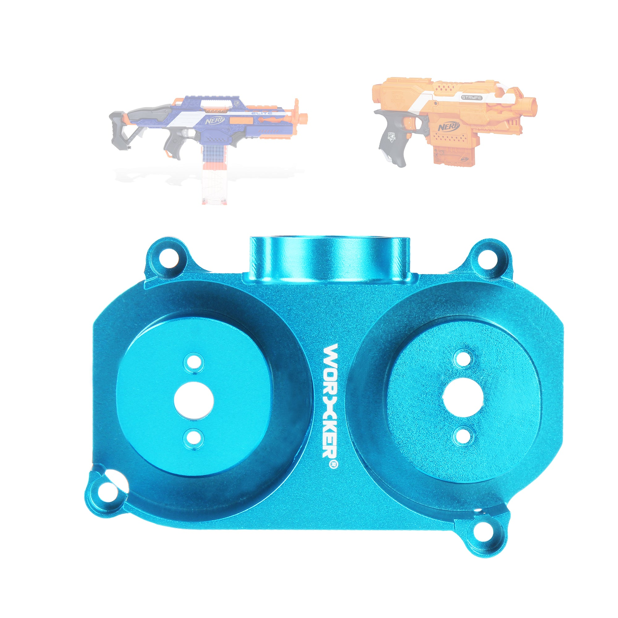 JGCWORKER Aluminum Alloy Modified Oblique Flywheel Cage For Nerf N-Strike - Nerf Mod Kits -Worker Mod Kits