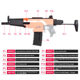 JGCWorker STF-W006-01-A MP5-A Style Mod Kits Set for Nerf N-Strike Elite Stryfe Blaster - Nerf Mod Kits -Worker Mod Kits