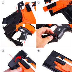 JGCWorker Kriss Vector Style  Stage 1 Mod Kits Set for Nerf N-strike Elite Stryfe Blaster - Nerf Mod Kits -Worker Mod Kits
