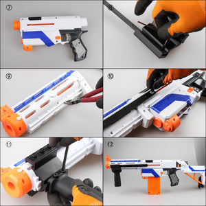 JGCWORKER Pump Kit Vertical Grip Anodized Alloy for Nerf RETALIATOR - Nerf Mod Kits -Worker Mod Kits