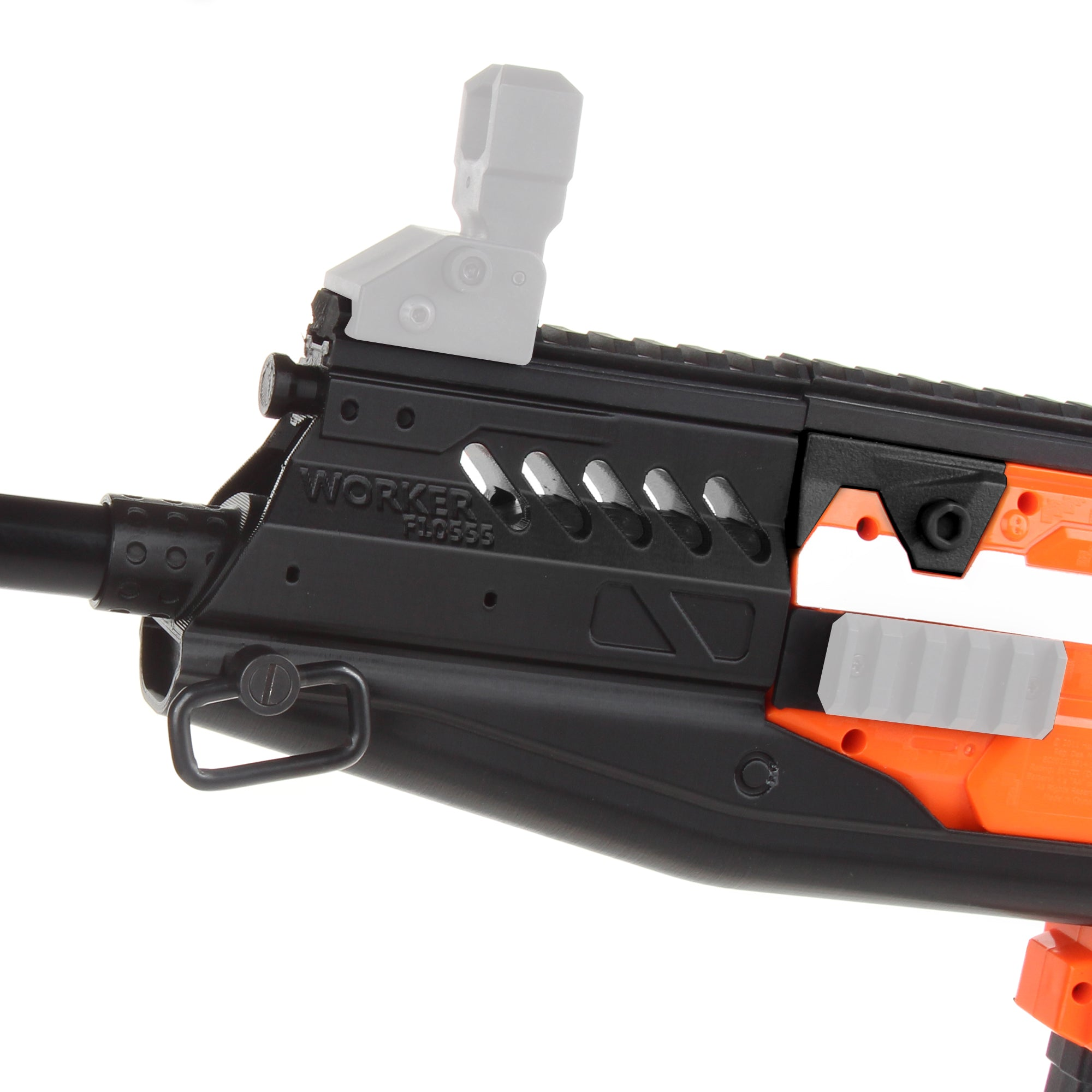JGCWorker STF-W022 Submarine Style Mod Kits Set With Black Adaptor for Nerf N-Strike Elite Stryfe Blaster - Nerf Mod Kits -Worker Mod Kits