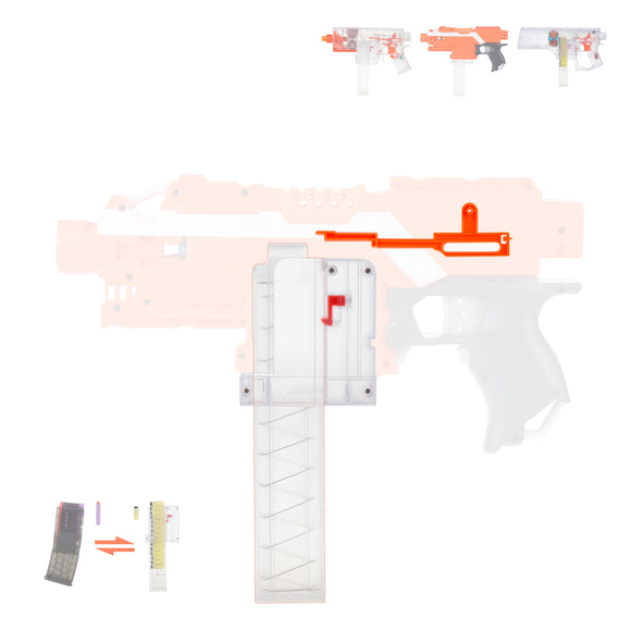 JGCWorker Short Dart Talon Magazine Mod Kit Set for Nerf Stryfe and Worker Swordfish Dominator - Nerf Mod Kits -Worker Mod Kits