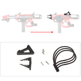 JGCWorker F10555 No.213 Esper Pull-down Version B to Pull-up Version A Kit - Version A Red + Black - Nerf Mod Kits -Worker Mod Kits