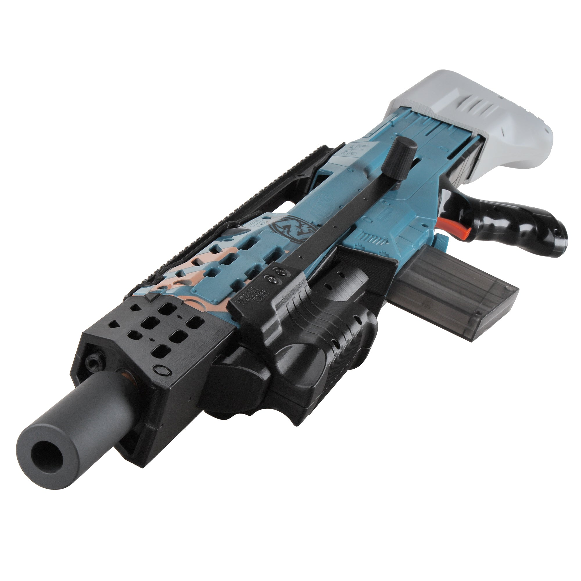 JGCWorker F10555 3D Printed CJ-001-1 Kits Set for Nerf Zombie Strike ZED Squad Longshot CS-12 Blaster - Nerf Mod Kits -Worker Mod Kits