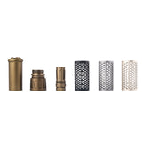 JGCWORKER Aluminum Alloy QDC Silencer + Trident Flash Hider Kits for Nerf - Nerf Mod Kits -Worker Mod Kits