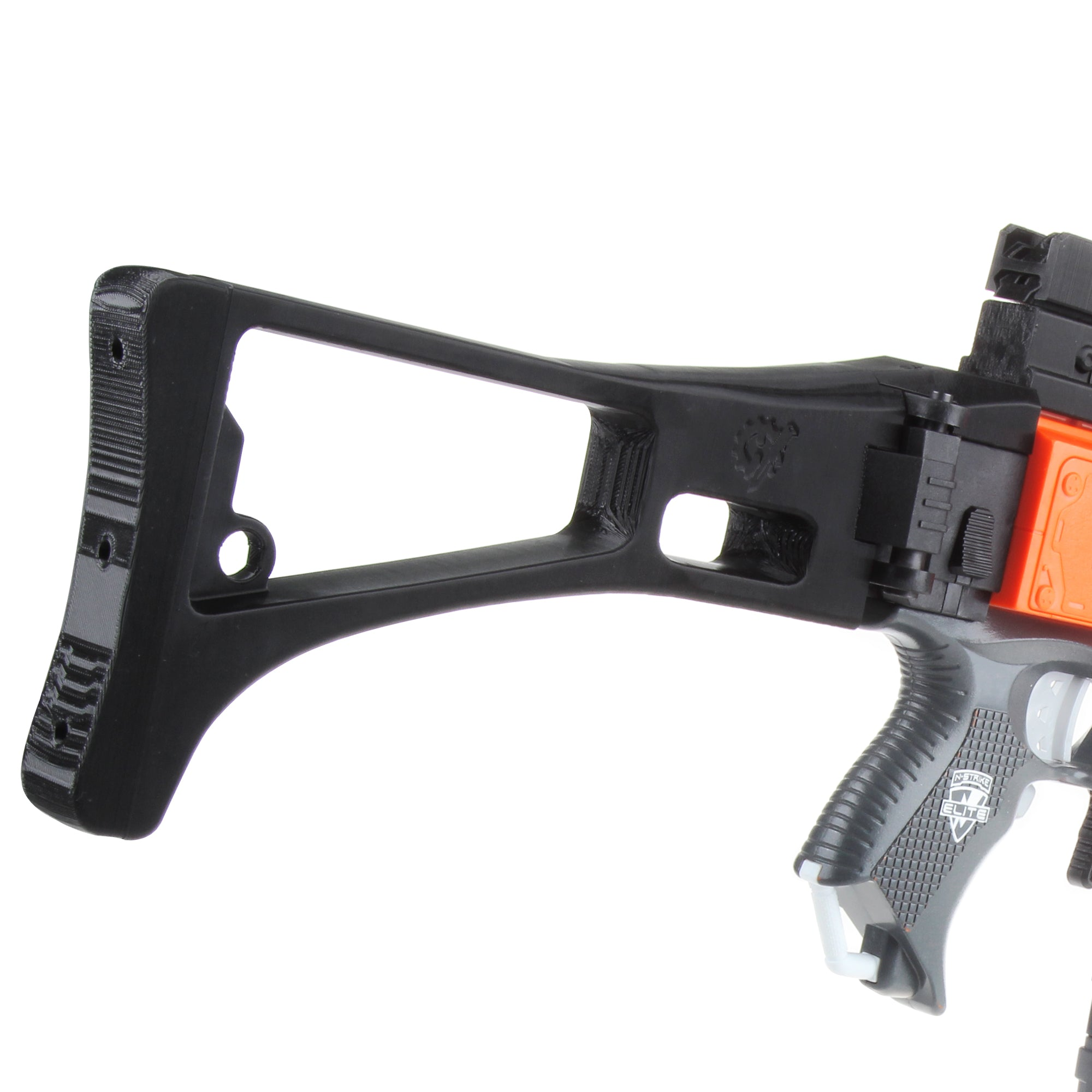 JGCWorker STF-W016-A G36 Style Mod Kits Set With Orange Adaptor And Long Front Tube for Nerf N-Strike Elite Stryfe Blaster - Nerf Mod Kits -Worker Mod Kits
