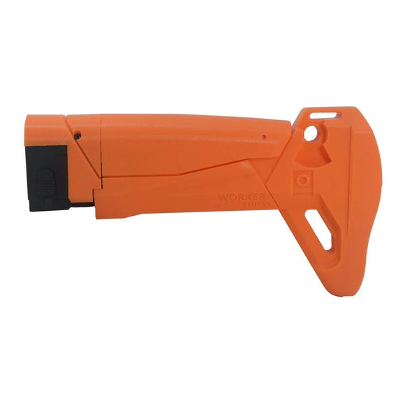 JGCWorker F10555 3D Printing A Style Shoulder Stock Replacement for Nerf N-Strike Elite Stryfe Blaster Color Orange - Nerf Mod Kits -Worker Mod Kits