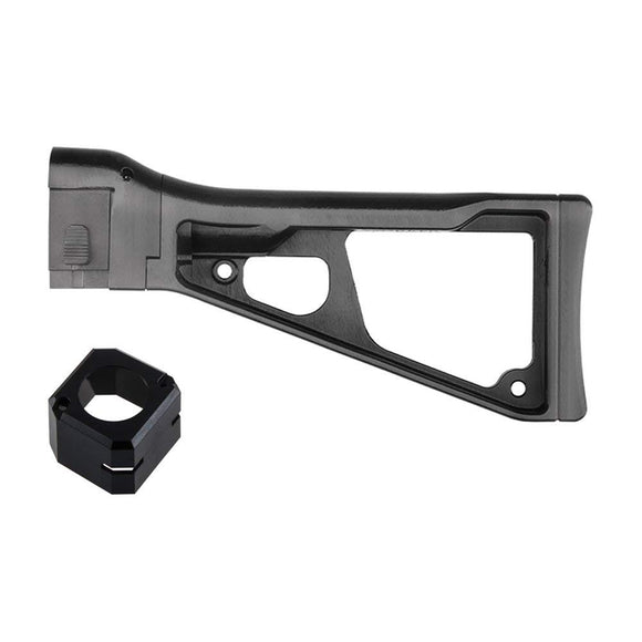 Worker F10555 3D Printing No.171 UMP9 Foldable Shoulder Stock ButtStock for Nerf N-strike Elite Color Black - Nerf Mod Kits -Worker Mod Kits
