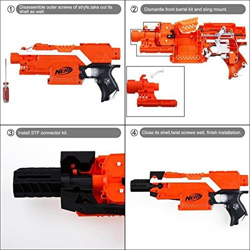 JGCWORKER 3D Printed AK Alfa Mod Kit Set for Nerf N-Strike Elite Stryfe Blaster - Nerf Mod Kits -Worker Mod Kits