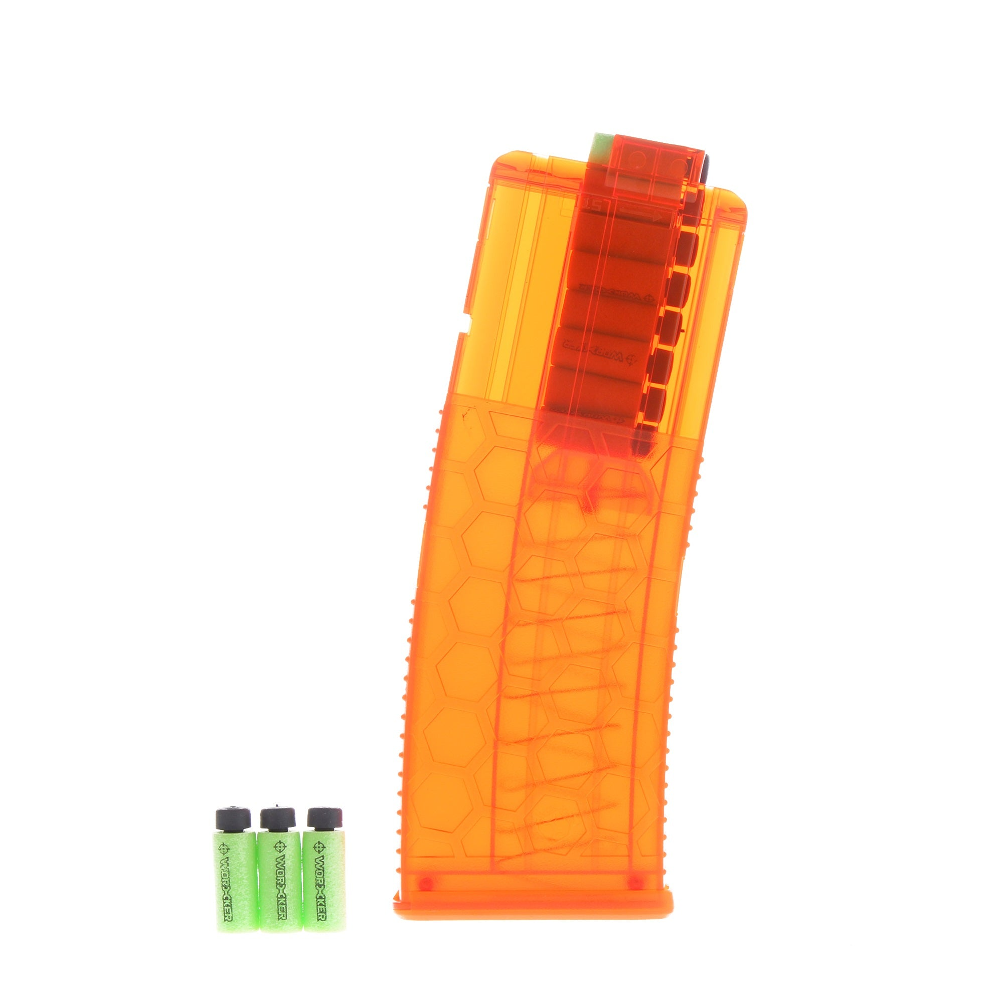 JGCWORKER Hexagon HoneyComb 15 Short Darts Clip Magazine for Nerf Blaster - Nerf Mod Kits -Worker Mod Kits