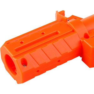 Worker Straight Style Adaptor Attachment for Nerf Stryfe Blaster Toy - Orange - Nerf Mod Kits -Worker Mod Kits