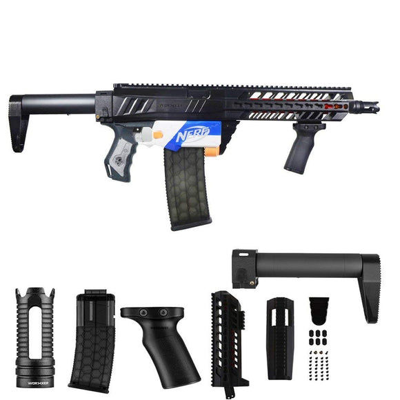 JGCWORKER Modification Kits Combo 5 Items For Nerf N-Strike Elite Retaliator Blaster - Nerf Mod Kits -Worker Mod Kits