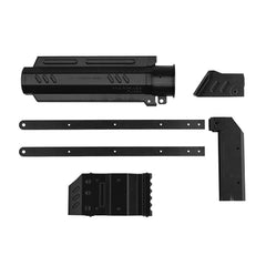 JGCWorker F10555 3D Printing No.150 Black Shoulder Stock Grip and Pull-down Kits Combo 6 Items for Nerf Rival Apollo XV700 Modify Toy - Nerf Mod Kits -Worker Mod Kits