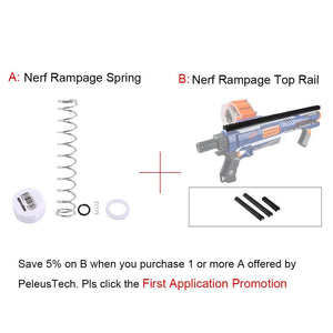 JGCWorker 7KG Modification Upgraded Spring Kit for Nerf N-Strike Elite Rampage Blaster - Nerf Mod Kits -Worker Mod Kits