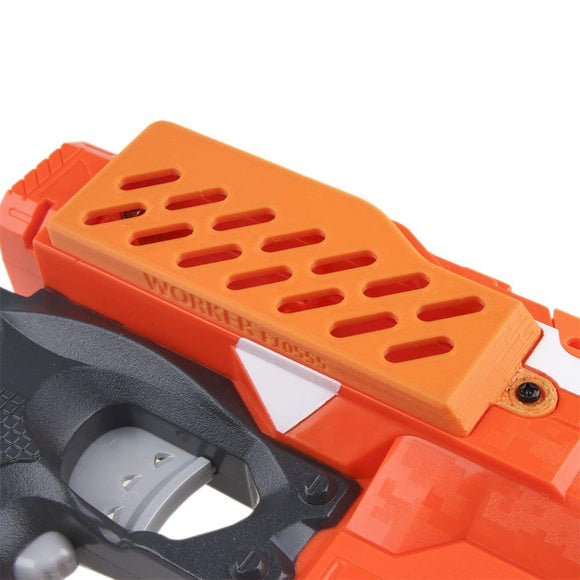 JGCWorker F10555 3D Printing Extended Battery Cover for Nerf n-strike elite stryfe Color Orange - Nerf Mod Kits -Worker Mod Kits