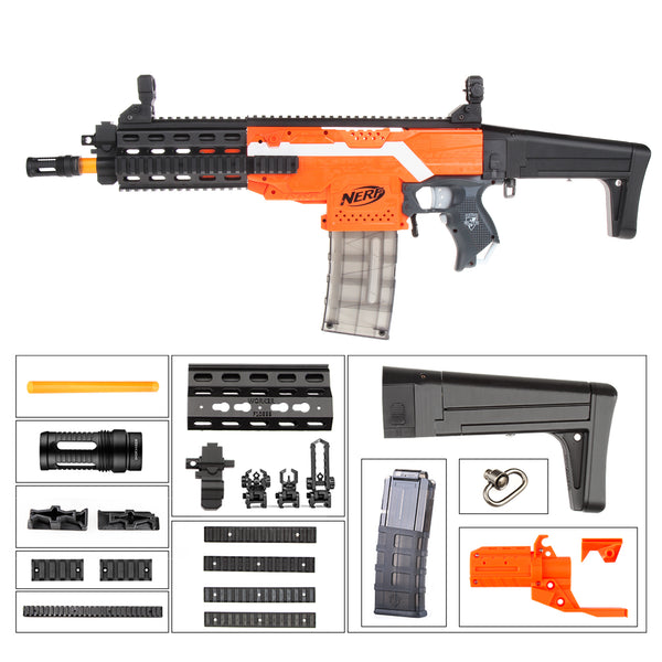 JGCWorker STF-W011 XCR-L Mini Mod Kits Set With Orange Adaptor for Nerf N-Strike Elite Stryfe Blaster - Nerf Mod Kits -Worker Mod Kits