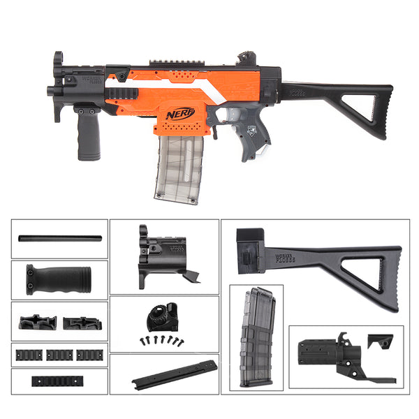 JGCWORKER MP5-K Style Mod Ktis Set for Nerf N-strike Elite Stryfe Blaster - Nerf Mod Kits -Worker Mod Kits