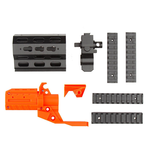 JGCWorker F10555 NO.57 3D Printing Short Front Tube with Adaptor Kit for Nerf N-Strike Stryfe - Nerf Mod Kits -Worker Mod Kits