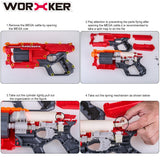 JGCWorker 7KG Modification Upgraded Spring for Nerf N-Strike Elite Mega CycloneShock Blaster - Nerf Mod Kits -Worker Mod Kits