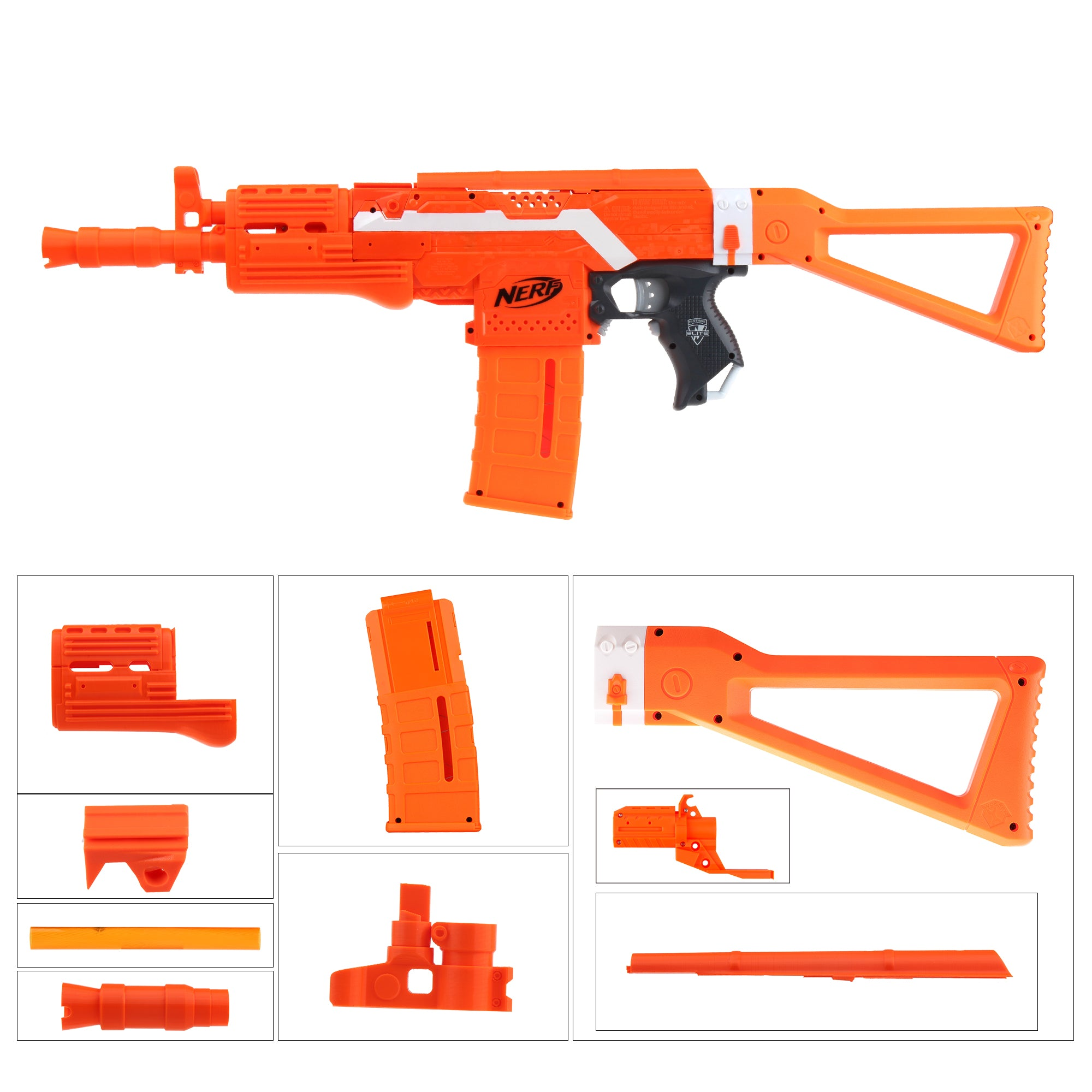 JGCWorker STF-W030-1 NO.105 C Style Mod Kits Set for Nerf N-Strike Elite Stryfe Blaster - Nerf Mod Kits -Worker Mod Kits