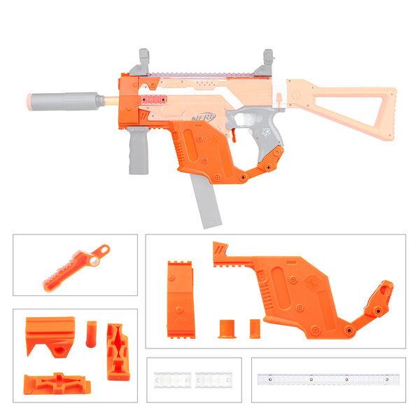 JGCWorker STF-W004-9 I Style KRISS Vector Mod Kits Set for Nerf N-Strike Elite Stryfe Blaster - Nerf Mod Kits -Worker Mod Kits