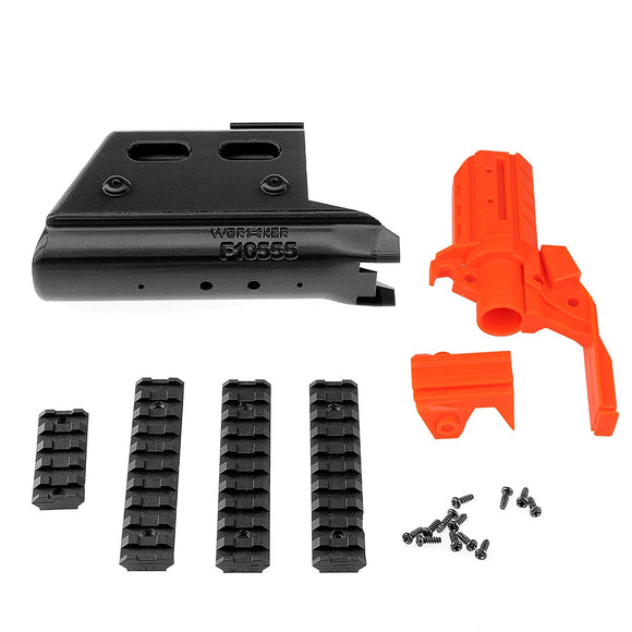 JGCWorker F10555 No.115 3D Printing G362 Front Tube Kits With Adaptor for Nerf N-Strike Stryfe Color Black - Nerf Mod Kits -Worker Mod Kits