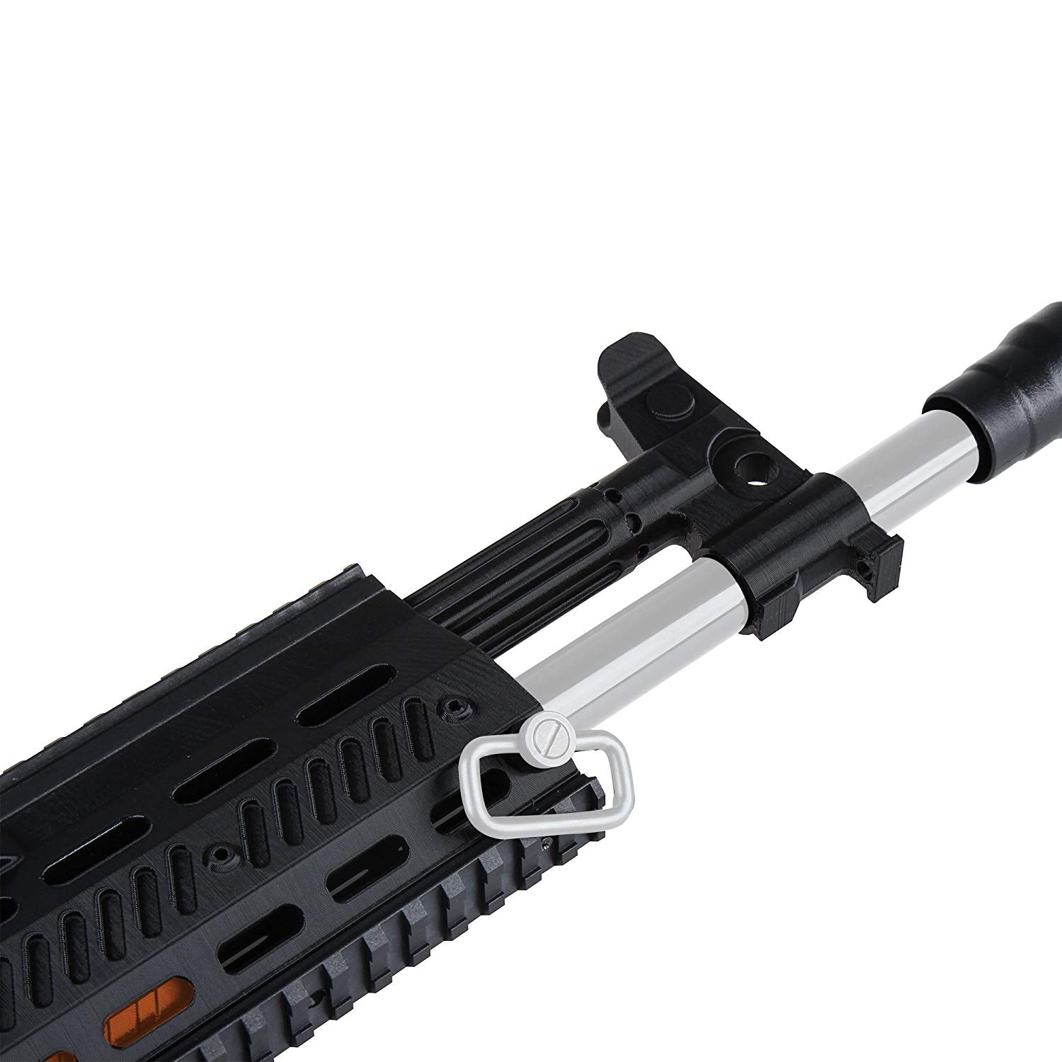 JGCWorker F10555 No.153 3D Printing AK12 Front Tube without Adaptor for Nerf N-Strike Stryfe Color Black - Nerf Mod Kits -Worker Mod Kits