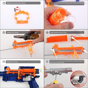 WORKER Paratroops Short Dart Mod Kit for NERF N-Strike Exclusive Elite Alpha Trooper CS-12