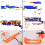 WORKER Upgraded Aluminum Pump Mod kit for Nerf Longstrike Modulus Blaster