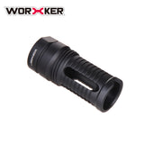JGCWORKER Aluminum Alloy Screw Thread Type CQB Front Tube Decorative Cap for Nerf Blaster - Nerf Mod Kits -Worker Mod Kits