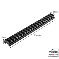 JGCWORKER Tactical Picatinny Rail Fitting Type - Nerf Mod Kits -Worker Mod Kits